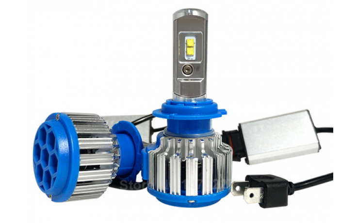 LED koplampen set / 9005 fitting / Waterproof / 35W 3500 lumen per lamp (7000 totaal)