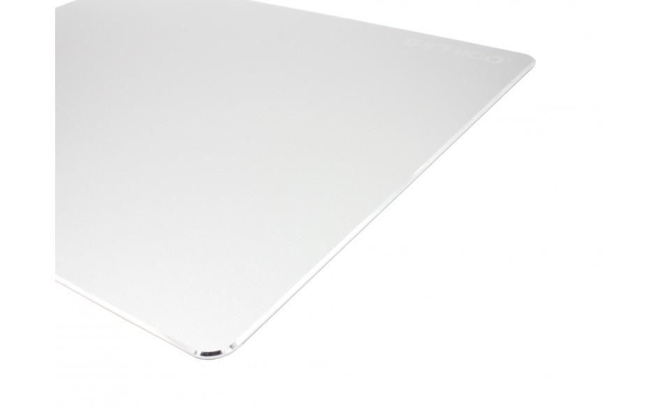 SIMICO Aluminium mousepad muismat 22x18cm Silver