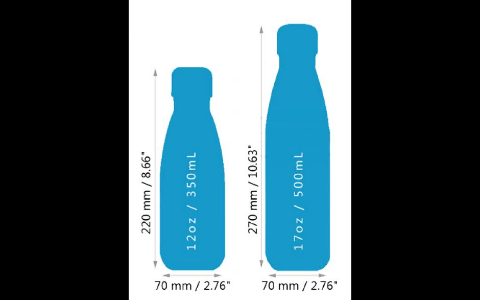 Waterfles 500ml RVS / Appelgroen / Thermofles Thermokan Isoleerfles / HaverCo