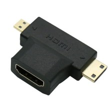 3 in 1 Micro HDMI + Mini HDMI naar HDMI kabel converter adapter voor HDTV 1080P / HaverCo