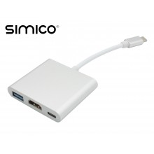 SIMICO USB Type-C Converter Hub naar HDMI 4k USB3.0 USB Type C
