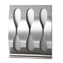 Tandenborstelhouder RVS tandenborstel houder van Roestvaststaal voor 3 borstels / HaverCo