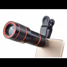 Telescoop lens met 12x vergroting Telelens voor mobiele telefoon oa iPhone en Samsung + Clip