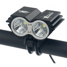 Solarstorm X2 fietslamp Cree XM-L 5000Lm LED met accu / Zwart / HaverCo
