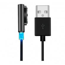 Magnetische USB laadkabel voor Sony Xperia Z3 Compact Zwart Opladen
