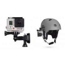 Helm houder Side Mount set compleet (plakker + clip + steun) voor GoPro Hero Session camera's