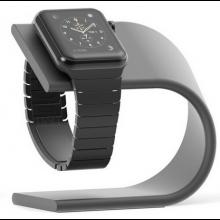 Houder aluminium Luxe voor Apple Watch iWatch oplader / Standaard voor smartwatch Cradle / Donker antraciet