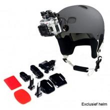 Helm front mount kit met 2x 3M plakker / GoPro helmet mount / Camera montage op helm