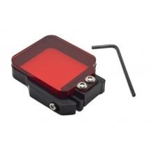 Rood Onderwater Duik Filter voor GoPro Hero 3+ en 4 voor duiken Duikfilter 3m tot 25m diepte