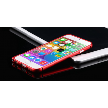 Aluminium bumper frame case ring hoes voor iPhone 6 4.7 inch / Kleur: Rood