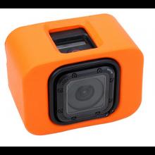 Floaty voor GoPro Session 4 en 5 / Oranje floatie / Voorkom zinken van uw GoPro camera / Drijver