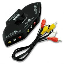 3x splitter AV RCA / Video Game Switch / Voor oa XBOX PS2 / EL3156