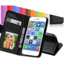 iPhone 6 4.7 inch case zwart telefoonhoesje / Leder hoesje / Met ruimte voor pasjes