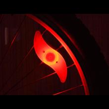 LED Fietslamp voor tussen de spaken / Rood verlichting