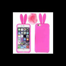 iPhone 5 5S 5C Hoesje Konijn Roze (met staartje)