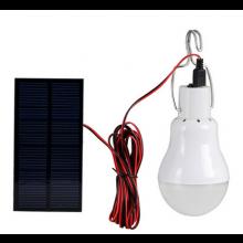 LED lamp voor in de tent met zonnepaneel / Camping kamperen / Werkt op accu / Solar
