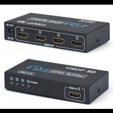 HDMI splitter / 1x IN naar 4x UIT / 3D 1080P ready / 220V voeding