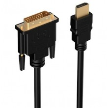 HDMI naar DVI 24+1 pin 2 meter Adapter kabel Gold / HaverCo / Male naar Male 1080P HD HDTV PC XBOX