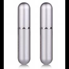 2 stuks Draagbaar mini parfumflesje pompverstuiver 6ML inhoud Zilver / HaverCo