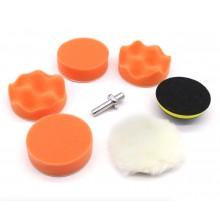 7 stuks poetskit polijsten schijven polishing 8cm diameter voor op de boormachine / HaverCo