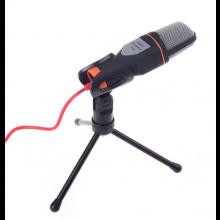 Microfoon zwart op standaard / Condensor model / AUX-aansluiting / HaverCo
