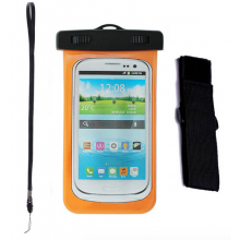 Waterproof bag hoes etui Oranje voor telefoon voor iPhone, Samsung Galaxy, LG, HTC etc