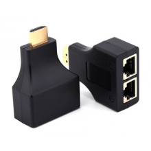 HDMI extender via RJ45 CAT-5e/6 kabel / 2 stuks