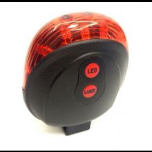 LED Fietslamp met Lasers / Achterlamp / LED+Laser / Rood