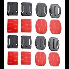 8 stuks plakker Mount voor Actioncam / 4x flat & 4x curved / voor GoPro Xiaomi bevestiging
