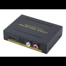 Digitale HDMI naar optical Audio/Analoog Stereo L/R converter decoder splitter adapter / Met 220V voeding