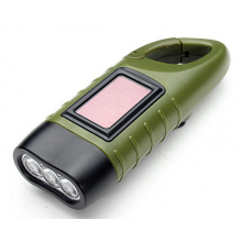 Nood zaklamp Emergency LED met handopwind functie en Solar zonnepaneel / Outdoor flashlight