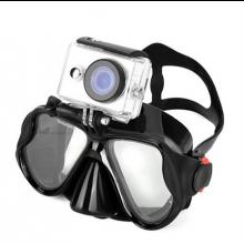 Duikbril Duikmasker Snorkelbril Divemask met GoPro houder bevestiging Zwart waterdicht
