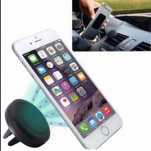 Magnetische telefoonhouder dock voor in de auto / Klemt op ventilatierooster Zwart / HaverCo