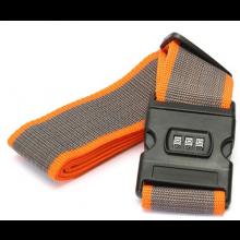 Koffer riem kofferriem band strap met slot Oranje-grijs / HaverCo