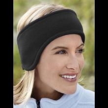 Oorwarmers hoofdband fleece ear muffs spandex zwart unisex / HaverCo