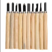 Houtbewerking beitels set van 10 stuks houtsnijden wood carving / HaverCo