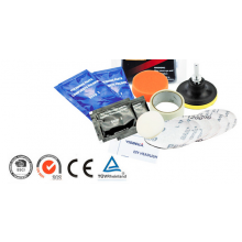 Koplamp poetsen set Headlight polishing kit inclusief polijstmiddel / HaverCo
