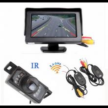 Achteruitrijcamera draadloos compact met LCD-scherm kleur voor camper, auto, beveiliging / HaverCo