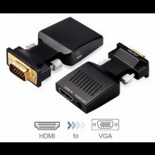 HDMI female naar VGA male converter 1080P + Jack aansluiting