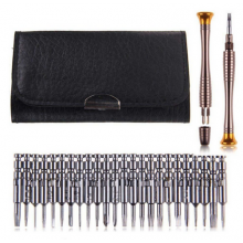 Mini toolkit torx Philips platkop pentacle driehoek 25 in 1 schroevendraaier in etui / HaverCo