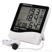 Precisie Digitale Thermometer Hygrometer Temperatuur Vochtigheid Klok / Indoor Outdoor / HaverCo