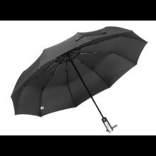 Automatisch openende en inklappende Mini Storm-paraplu Zwart 105cm diameter / HaverCo