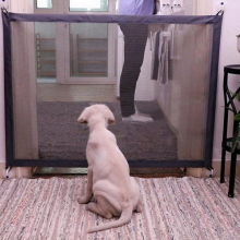 Hondennet gaas voor honden in deuropening 110cm breed 72cm hoog Zwart / HaverCo