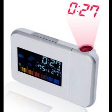 Digitale alarmklok klok met tijdstip projectie Temperatuur en Luchtvochtigheids weergave / HaverCo