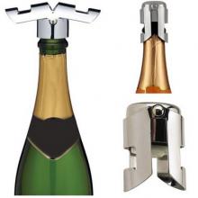 Luxe Champagnestopper set Wijn stopper Afdop set Zilver / 2 stuks / HaverCo