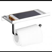 RVS toiletrol houder met telefoonhouder voor mobiele telefoon Roestvaststaal Toiletrolhouder / HaverCo