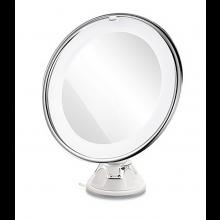 Vergrotende spiegel 10x Magnifying mirror Rond met LED verlichting op batterijen / HaverCo