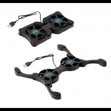 Laptopcooler laptopkoeler Koelventilator voor laptops zoals Macbook Pro Air Koeling opklapbaar op USB / HaverCo