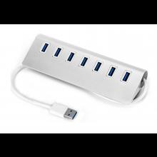 USB 3.0 Hub Station met 7x USB aansluiting Zilver / HaverCo