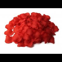 2000 rozenblaadjes (kunstbloem) Rood van stof voor Bruiloft en Romantiek / HaverCo